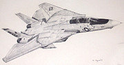 Navy Paintings - Tophat Tomcat by Mark Jennings
