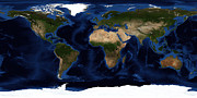 Equirectangular Photos - Topographic & Bathymetric Shading by Stocktrek Images