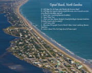 Observation Posters - Topsail Beach Poster by Betsy A Cutler East Coast Barrier Islands