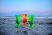Topsail Island Photos - Topsail Hurricane Glasses by East Coast Barrier Islands Betsy A Cutler