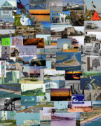 Topsail Prints - Topsail Island NC Collage  Print by East Coast Barrier Islands Betsy A Cutler