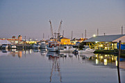 Shrimp Boat Prints - Topsail Island NC Sound Print by Betsy A Cutler East Coast Barrier Islands