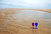 Wine Glasses Prints - Topsail Island Paradise Print by Betsy A Cutler East Coast Barrier Islands