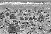 Topsail Island Posters - Topsail Island Sandcastle Poster by Betsy A Cutler East Coast Barrier Islands