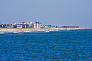 Topsail Island Posters - Topsail Island Sea View Poster by East Coast Barrier Islands Betsy A Cutler