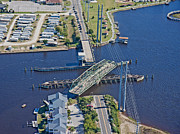 Topsail Photos - Topsail Island Swing Bridge by East Coast Barrier Islands Betsy A Cutler