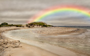 Topsail Island Posters - Topsail Rainbow Poster by Betsy A Cutler East Coast Barrier Islands