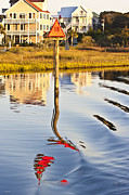 Topsail Sound Sunset Print by Betsy A  Cutler
