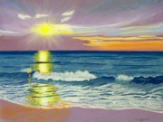 Beach Pastels Originals - Topsail Sunrise by Cathy Harville