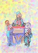 Torah Reading Print by Michael A Klein