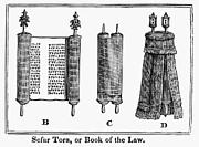 Torah Framed Prints - Torah Scroll, 1842 Framed Print by Granger