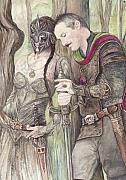 Elves Prints - Torgil and Dulcamara Warrior Print by Morgan Fitzsimons
