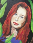 Tori Framed Prints - Tori Amos 1 Framed Print by Crystal  Rickman