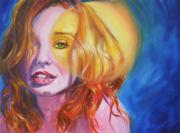 Musicians Paintings - Tori Amos Inner Sun by Ken Meyer jr