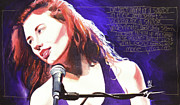 Singers Paintings - Tori Amos Savior by Ken Meyer jr