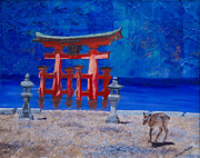 Printmaking Prints - Torii Japan Print by Jo-Anne Gazo-McKim