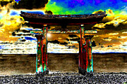 Sore Digital Art - Torii Sunrise by David Lee Thompson