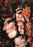 Expressionsim Paintings - Torn Between Two Lovers by Natalie Holland