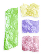 Paper Cut Posters - Torn colorful paper Poster by Blink Images