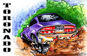 Custom Ford Drawings Metal Prints - Tornado Metal Print by Big Mike Roate