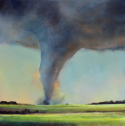 Storm Art Framed Prints - Tornado Touchdown Framed Print by Toni Grote