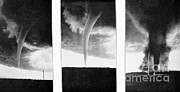 Tornadoes Photo Framed Prints - Tornadoes, 1930 Framed Print by Science Source