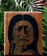 Wood Engraving Reliefs - Toro sentado by Calixto Gonzalez