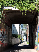 Toronto Alley Underpass Print by Merv Scoble
