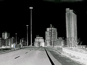 Surrealism Fine Art - Toronto At Night by Miss Dawn