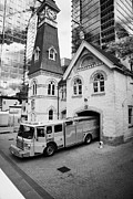 Department Prints - toronto fire department station 312 TFD 10 historic clock tower building ontario canada Print by Joe Fox