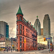 Historical Building Prints - Toronto Flatiron Building Print by Theo Tan