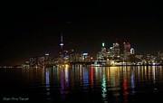 Toronto Skyline At Night Print by Lingfai Leung