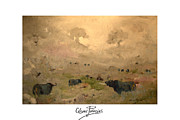 Bravo Originals - Toros al alba   Bulls at dawn by Cesar PALACIOS