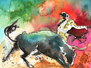 Bullfight Paintings - Toroscape 60 by Miki De Goodaboom