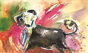 Bullfight Paintings - Toroscape 62 by Miki De Goodaboom