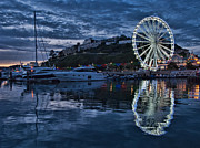 Yacht Photos - Torquay Marina and the Big Wheel by Ann Garrett