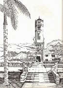 The Main Drawings - Torre de la Universidad de Puerto Rico by Juan  Salazar