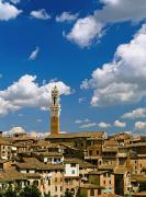 Torre De Mangia And Siena Skyline Print by Axiom Photographic