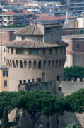 Rooftops Art - TORRE SAN GIOVANNI st johns tower on the ramparts of the walls of the vatican city rome by Andy Smy