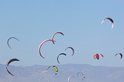 Kiteboarding Art - Torremolinos, Spain  Kite Surfing by Ken Welsh