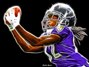 Nfl Prints - Torrey Smith Print by Stephen Younts