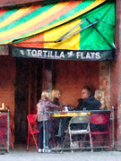 Outdoor Cafes Posters - Tortilla Flats Greenwich Village Poster by Susan Savad