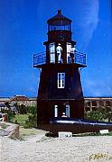 Lighthouse Photographs By Frederic Kohli - Tortugas Light by Frederic Kohli