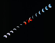 Eclipse Art - Total Eclipse Of The Moon In December 1992 by Dr Fred Espenak
