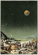 Stars Darkened Prints - Total Lunar Eclipse Of 1877 Print by Detlev Van Ravenswaay
