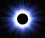 Solar Eclipse Prints - Total Solar Eclipse, Computer Artwork Print by Mehau Kulyk