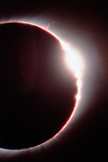 Total Solar Eclipse, Showing A Solar Flare Print by Dr Fred Espenak