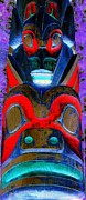 Native Art Digital Art - Totem 11 by Randall Weidner
