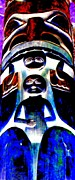 Native Art Digital Art - Totem 23 by Randall Weidner