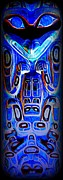Native Art Digital Art - Totem 35 by Randall Weidner
